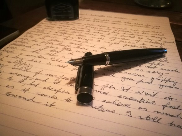 Sheaffer 300 Fountain Pen Review Uncapped